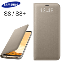 Samsung Galaxy S8 S8 Plus Case Smart Windows Phone Bracket Mirror Flip Luxury Cover Leather For