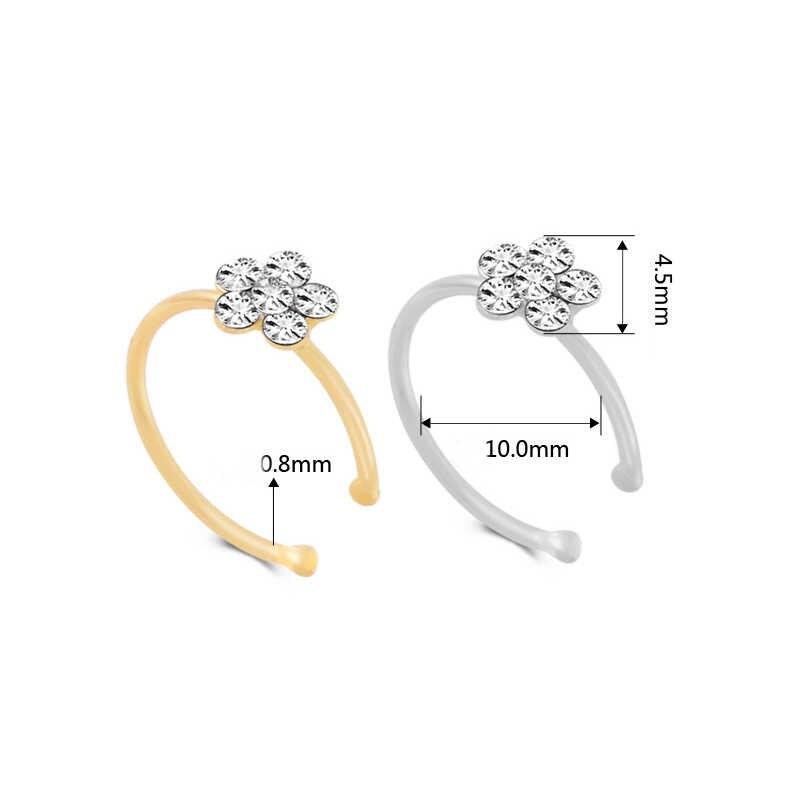 LNRRABC, 1 unidad, gran oferta, joyería de moda para mujer, anillo con flores de cristal, abalorio, joyería corporal