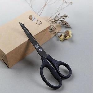 Image 2 - Huohou チタンメッキはさみ黒セット紙切断はさみミシン糸防錆剪定はさみ葉トリマーツールキット