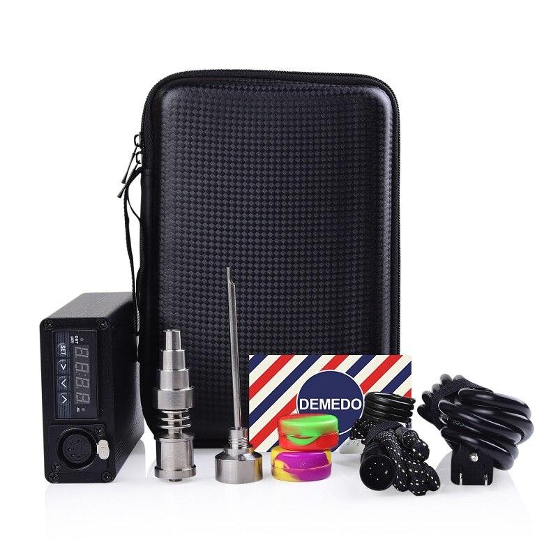 Clou à Quartz électrique Enail Dab E avec Kit de clou en titane capuchon de carbu 20mm tampon de Silicone pour contrôle de température Dabber PID sac Portable