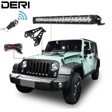 Led work light Offroad Single Row LED DERI Light Bar with Wireless Remote Controller for Jeep Wrangler JK 2007-2017 kit 20 100W auxmart led bar 22 324w for jeep wrangler jk 2007 2018 led light bar work light offroad lamp for jeep wrangler unlimited jku