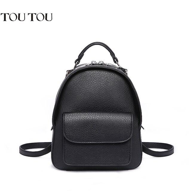 5d857f9588 Fashion Women Backpack For Girls 2018 Black Backpacks Female Mini Small  Bags Ladies Black Backpack college