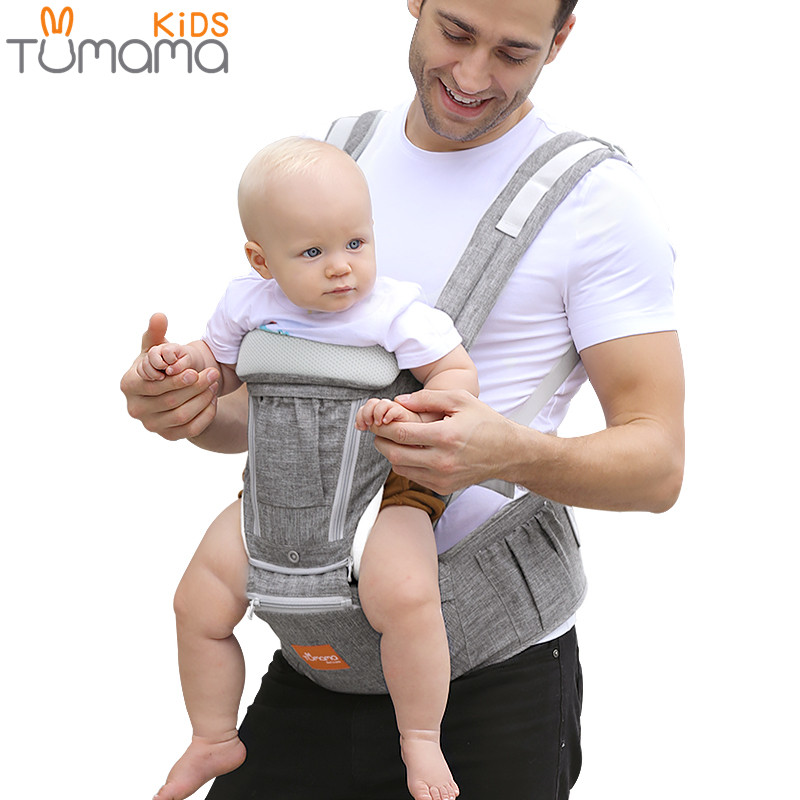 Tumama Ergonomic Baby Carrier Infant Baby Hipseat Carrier Waist Stool Front Facing Backpack Kangaroo Baby Wrap Sling For 0 36M