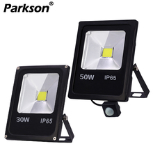Led Flood Light Outdoor Lighting Spotlight Motion Sensor Reflector LED Floodlight 10W 30W 50W Wall Lamp IP65 Waterproof 220V