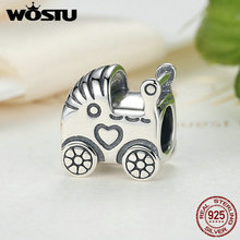 New 100 925 Sterling Silver Baby Carriage Charm Fit Original Pandora Bracelet Pendant Authentic Diy Luxury Jewelry Gift