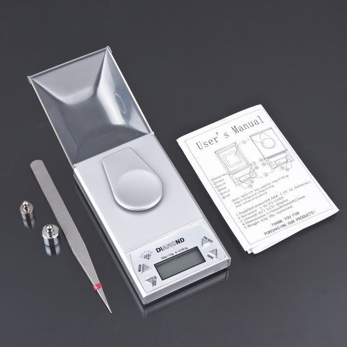 0.001/ 10g 0.001g-10g LCD Digital Jewelry weighing Diamond Pocket Waage Scale Gem weight image