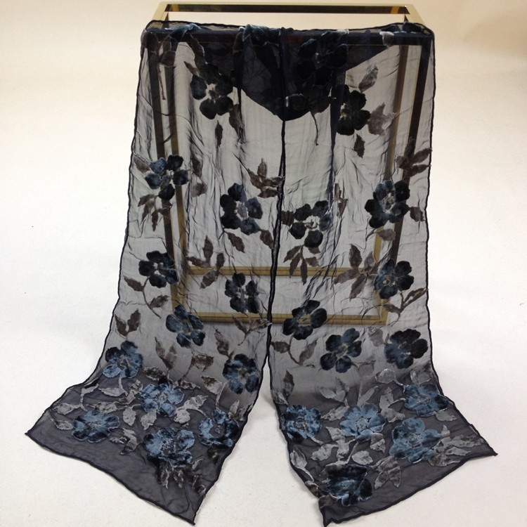 Velvet Silk Scarf Women Size:22*140cm Women Men #s310