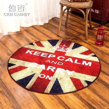 CIGI Home Round Mat Bedroom Bathing Room Living Room Kitchen Geometrical Pattern Anti Skid Floor Mat Carpet Washable Door Mat