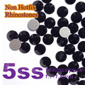 Free Shipping Nail Art Rhinestone Jet Black Color SS5(1.7-1.8MM) 1440pcs/pack Non Hotfix Flatback Crystal Stones