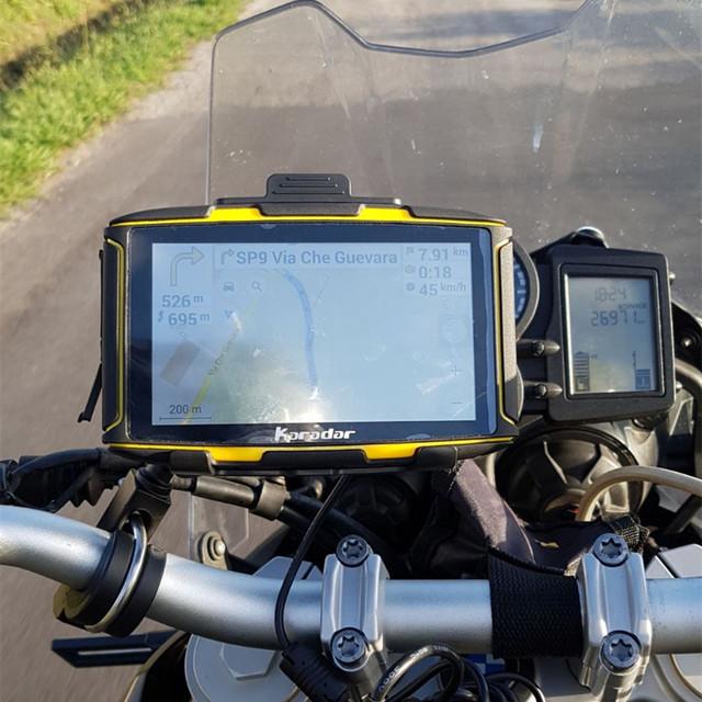 2017 gps moto newest RAM1GB android IPX7 waterproof wiFi, bluetooth 4.0, google  Karadar navigator motorcycle