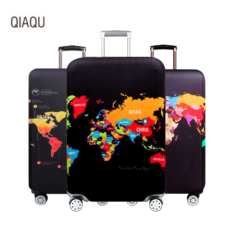 QIAQU Travel Suitcase Protective Cover Luggage Case Elastic Luggage Dust Cover Apply To 18''-32'' Suitcase Travel Accessories