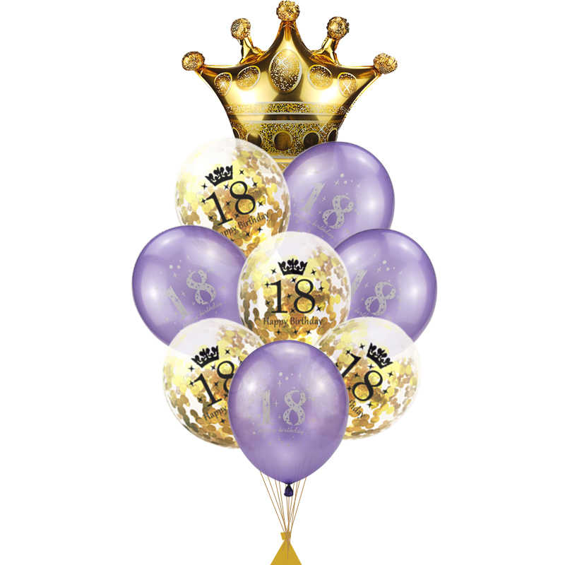 18 Birthday Balon Party Helium Air Balloon Years Baloon Decorations Adult For 18th