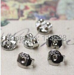 2000 peças/lote prata ou bronze Tone brinco brinco de volta rolha Earnut resultados Jewely