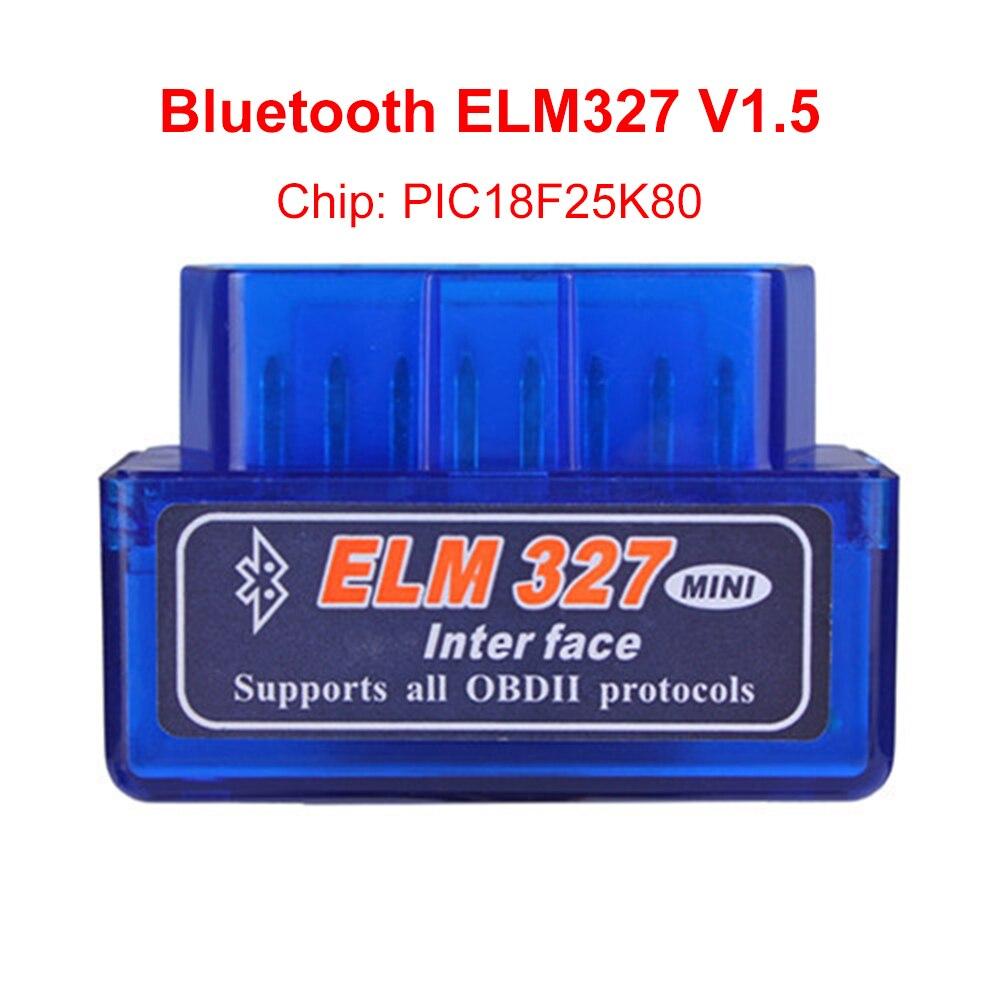 V1.5 мини ELM327 Bluetooth ELM 327 версии 1,5 V с PIC18F25K80 чип OBD2/OBDII для Android Крутящий момент автомобиль товара сканер DY143