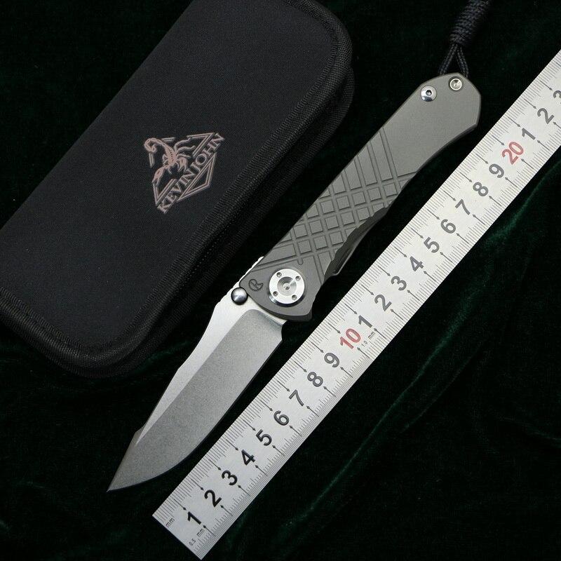 Kevin john CR Umnumzaan couteau pliant m390 lame titanium poignée camping survie de chasse pocket cuisine Fruits couteaux EDC OUTILS