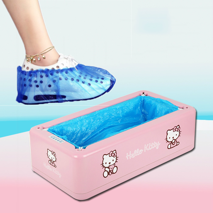 Cute Hello Kitty Automatic Shoe Cover Machine One-time Home Intelligent Shoe Sleeve Tool Disposable Foot Cover Shoe Film Device