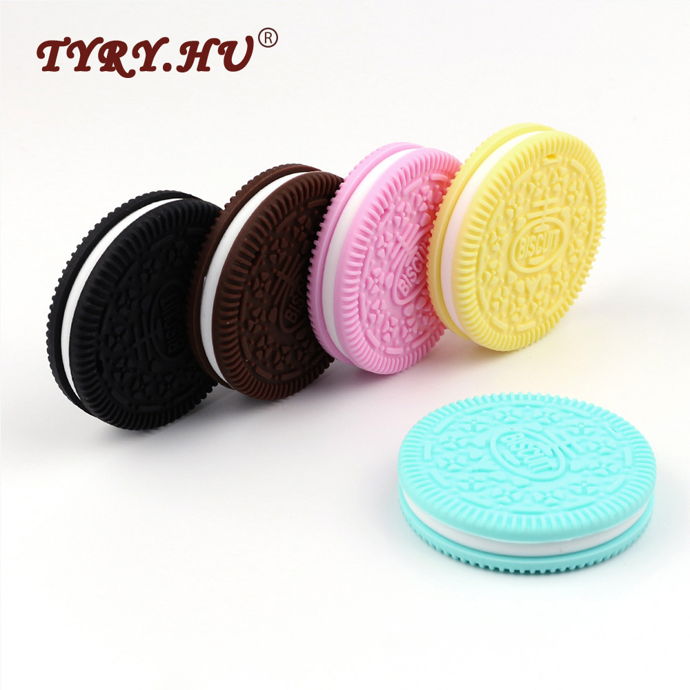 Baby Silicone Teething Shooter Toy Oreo Cookie UK Stock