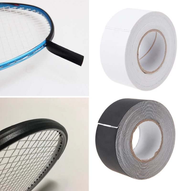 500cm Tennis Racket Head Protection Tape Black White Polyester Impact Friction Reduce Stickers Tennis Accessory