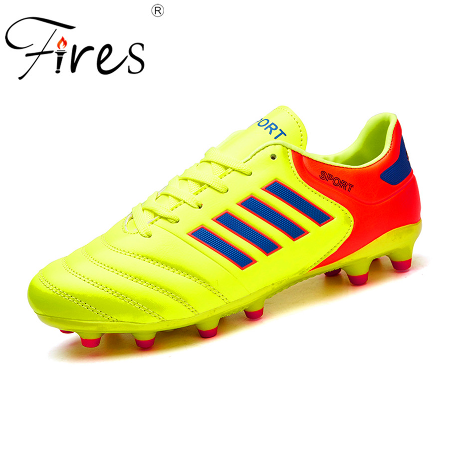 Fires outdoor football shoes grass lawn soccer shoes cleats for adults brand children sports football boots