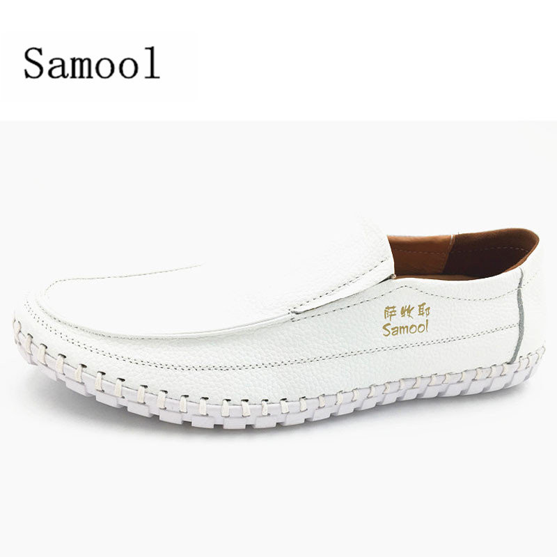 autumn fashion slip on genuine leather Soft bottom Loafers casual shoes Flats Mens lace up Leather Driving Shoes big size 38-47 black suede loafers for male plus size 38 47 casual mens footwear driving flats loafers suede leather flats slip on shoes mens