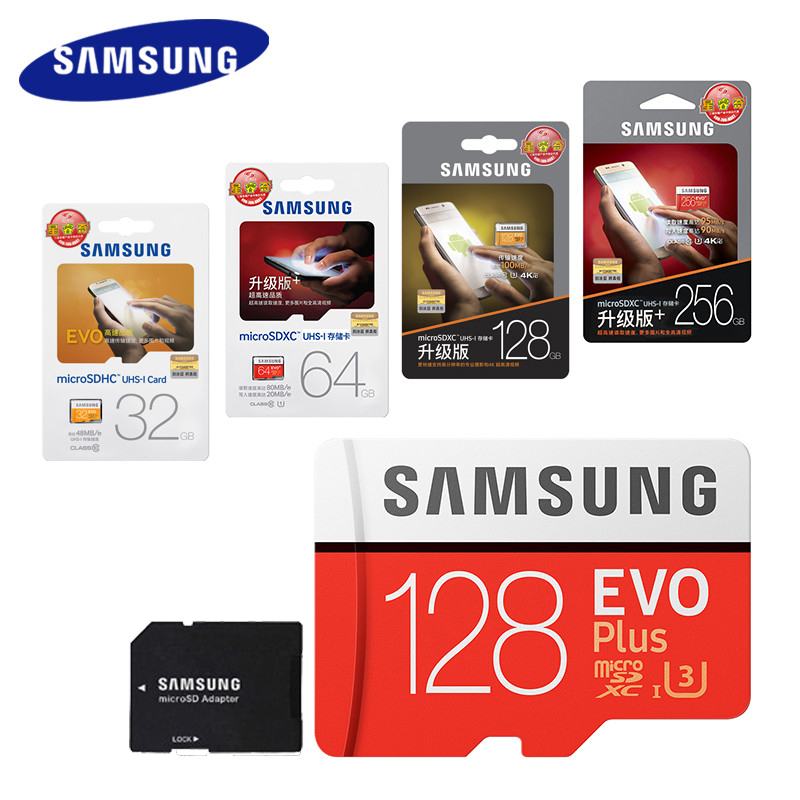 SAMSUNG 100 Mb/s Micro SD Karte 128 gb 32 gb 64 gb 256g Speicher Karte Class10 U3 u1 Flash TF Microsd Karte für Telefon mit Mini SDHC SDXC