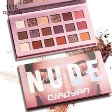18 farben Nude Glänzende Matte Lidschatten Make Up Glitter Pigment Rauchigen Lidschatten Pallete Wasserdicht Pulver 9 Farben Kosmetik