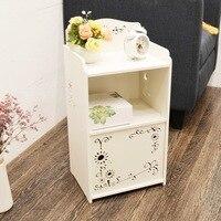 Bedside cabinet mini assembly children's receptacle shelf simple narrow cabinet bedroom cartoon small bedside cabinet