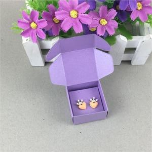 Image 3 - 100 Set עגילי כרטיס קופסא תכשיטי קראפט & מציג תכשיטי כרטיסי תכשיטי סט תכשיטי אריזה/מתנה בעבודת יד קופסות