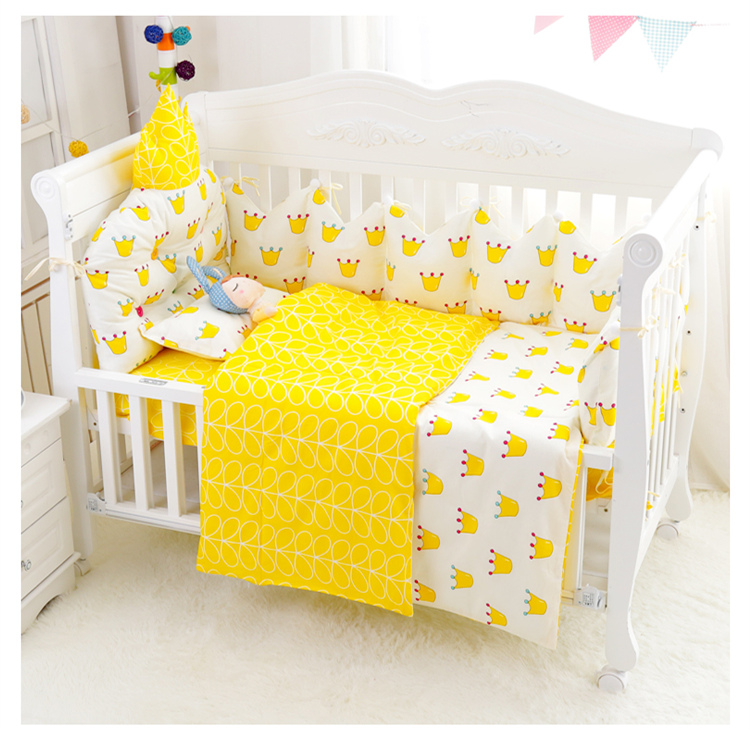 Newly 3d Crown Shape Baby Bedding Set, Crown Baby Crib Bedding