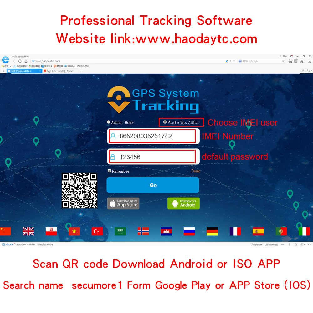Mini GPS car tracker H905 Real-time tracking gps locator 9-90V cut off car  fuel power GSM GPS tracker use google maps Free APP