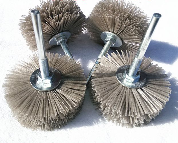 3PCS 80mm Imported DuPont Wire Grinding Brush 4 layers Woodworking Grinding Tools Furniture Wood Carving Sculpture Polish Brush