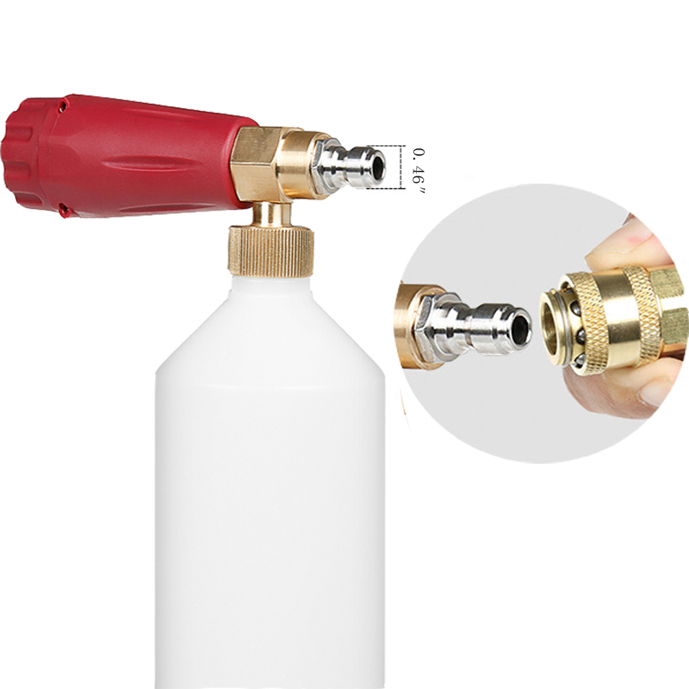 """Image 3 - High Pressure Washer Snow Foam Lance 1/4"""" Quick Connector Foam Generator 1 L Soap Foam Cannon Car Washing-in Water Gun & Snow Foam Lance from Automobiles & Motorcycles"""