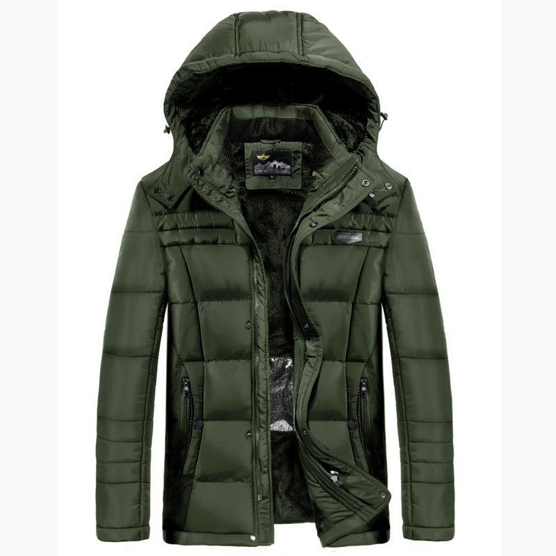 2018 Thick Winter Jacket AFS JEEP Men   Parka   coats Smart Heating Temperature Controllable Neck Waist Protective Men Obesity 5XL