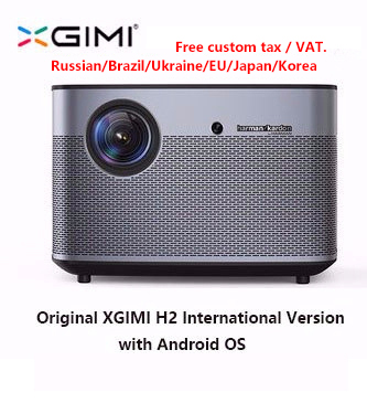 H2 XGIMI Projetor Home Theater 300 Polegada originais 1080P Full HD Suppor4K 3D Android Bluetooth Wi-fi TV DLP Beamer