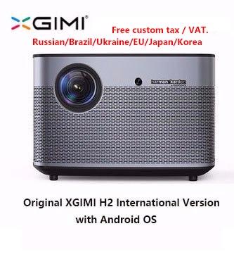 H2 XGIMI Projetor Home Theater 300 Polegada originais 1080P Full HD Suppor4K 3D Android Bluetooth Wi-fi TV DLP Beamer