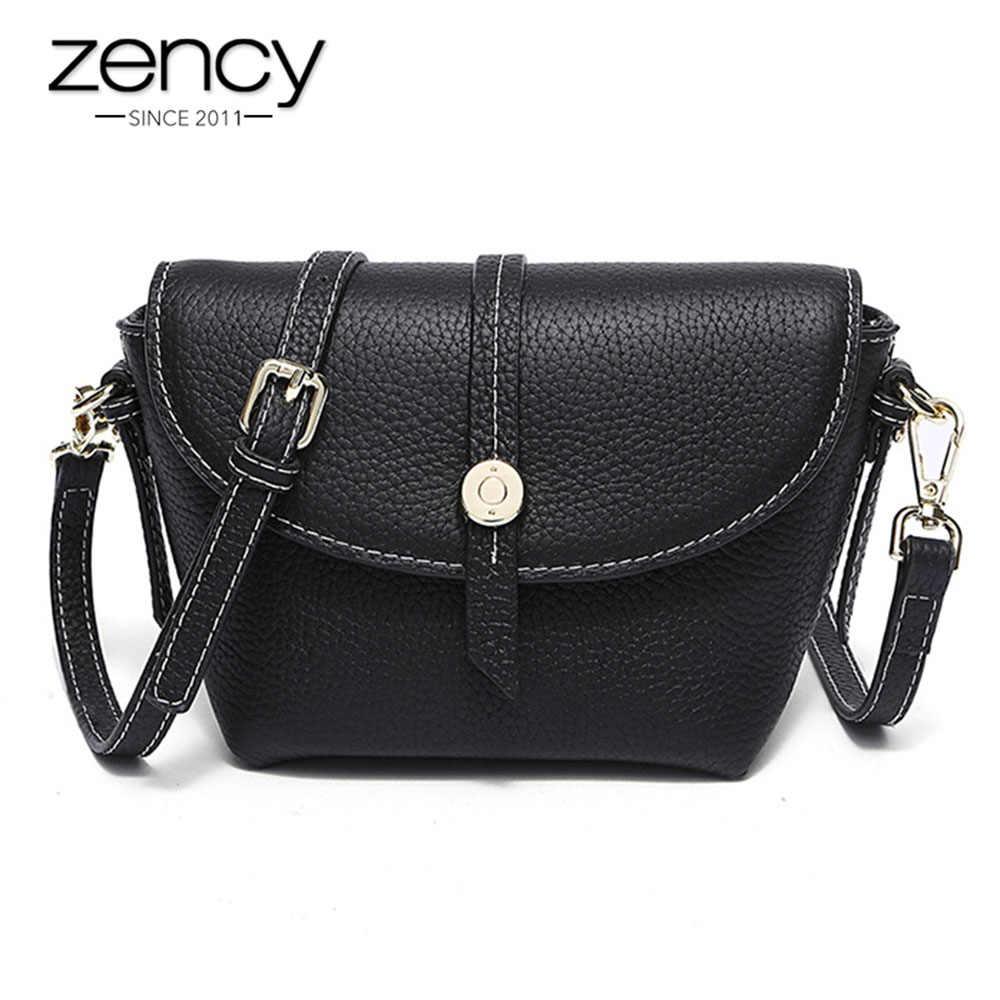 Zency 100% натуральная кожа модная женская сумка-мессенджер мини сумка женская сумка через плечо серая Сумочка качество A +