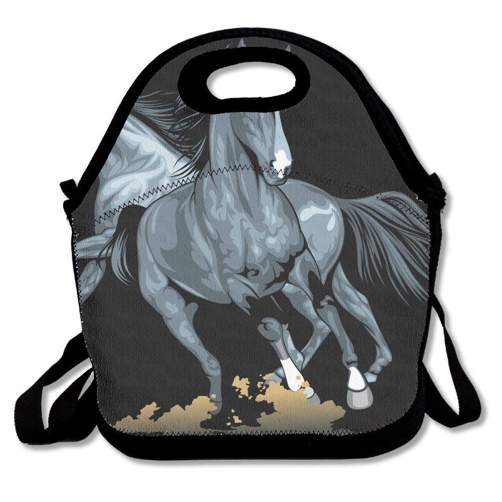 c5e403f365c9 US $3.95 48% OFF|SAMCUSTOM 3D Print Fire Horse Lunch Bags Insulated  Waterproof Food Girl Packages men and women Kids Babys Boys Handbags-in  Lunch Bags ...