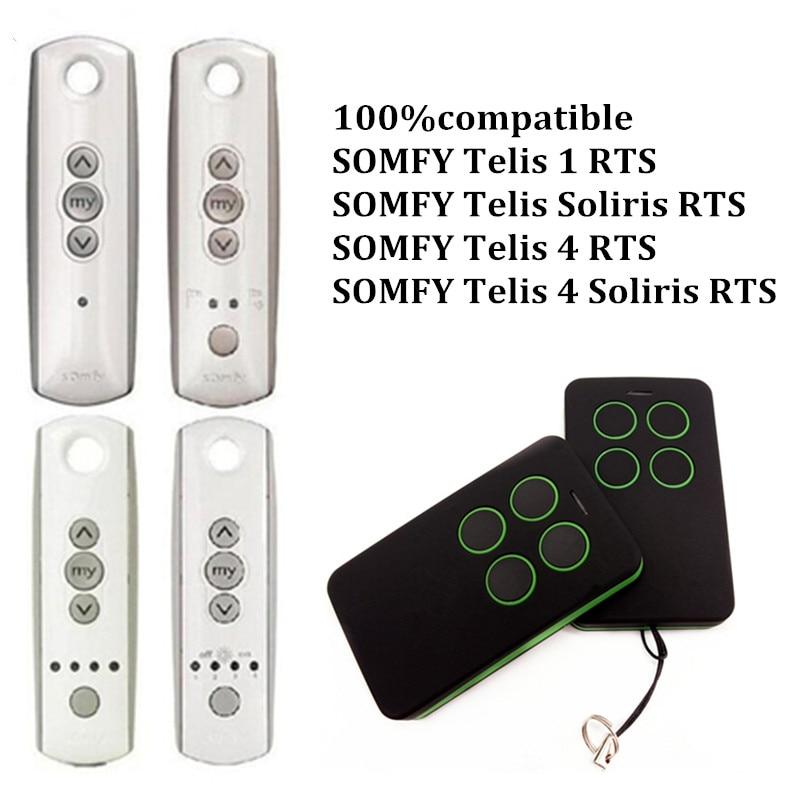 SOMFY TELIS 4 RTS Telis Soliris RTS Télécommande compatible SOMFY TELIS 1 RTS