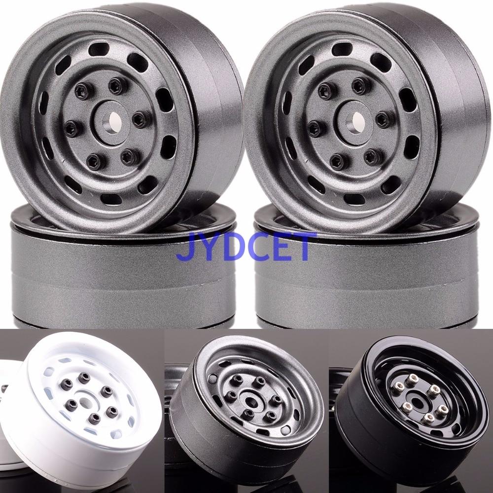1067 1.9 Aluminum Beadlock Wheel Rim 4PCS For RC 1/10 Rock Crawler SCX10 TRX-4 D90 mxfans rc 1 10 2 2 crawler car inflatable tires black alloy beadlock pack of 4