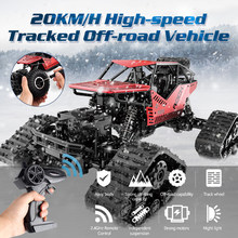 Global Drone 1:16 RC Car High Speed 20KM/H Tracked RC Drift Off Road Waterproof Machine on the Radio Climbing Car(China)