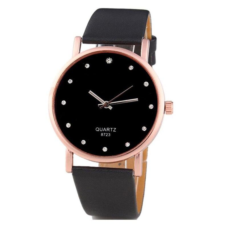 Hot Sale Women's Diamond Watch Fashion PU Leather Business Quartz Watches Women Clock Ladies Analog Wrist Watch Reloj Mujer #ZYL oasis мигель полуавтоматический с прорезиненной ручкой красный 907201