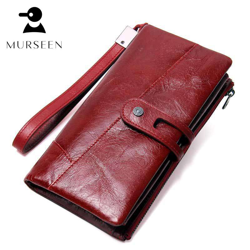 Women Wallet Long Purse Genuine Cow Leather Fashion Design Coin Pocket Solid Ladies Card Holder Famous Brand Female Clutch Black women leather wallets v letter design long clutches coin purse card holder female fashion clutch wallet bolsos mujer brand