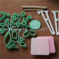 32 Pieces Sugar Paste Flower Making Set Sugarcraft Bonsai Mold Wilton Cake Decorating Tools Style