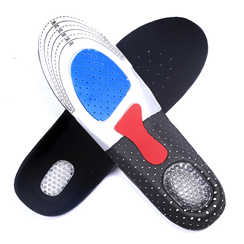 factory Free Size Unisex Orthotic Arch Support Shoe Pad Sport Running Gel Insoles Insert Cushion for Men Women free shipping 2016 1 pair large size orthotic arch support massaging silicone anti slip gel soft sport shoe insole pad for man women