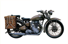 1/9 Scale  Military Mototcycles Triumph 3HW Plastic Model Building Kit