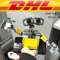 LEPIN 16003 Wall E Idea Robot Model Star Plant Building Blocks 21303 Wall E Action Figure