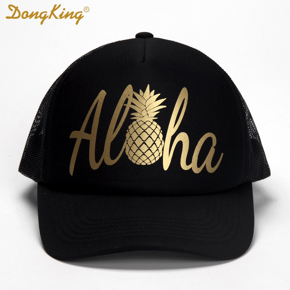 e042644bd1c Detail Feedback Questions about DongKing Fashion Trucker Hat Aloha Trucker  Cap Pineapple Hawaii beach Sun Baseball SnapBack Top Quality Holiday Gift  Funny ...