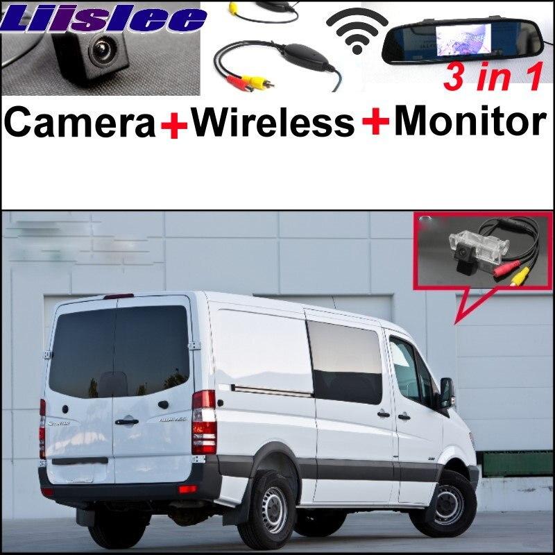 Liislee 3 в 1 специальная камера + беспроводной приемник + монитор зеркала заднего вида система парковки для MERCEDES BENZ для Додж Спринтер