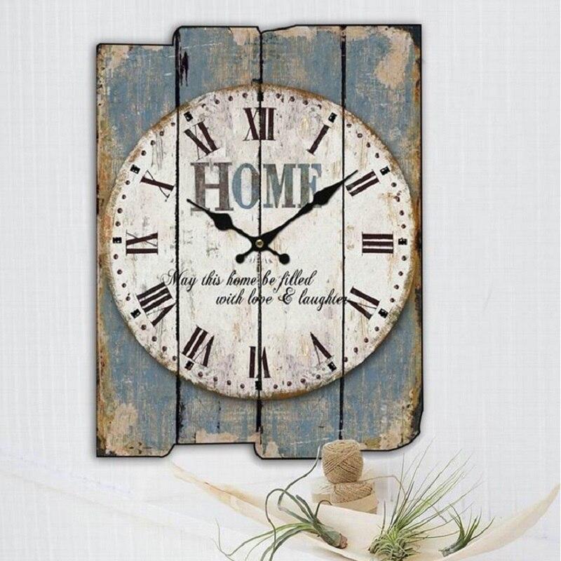 18af79faa84 Meijswxj Relógio de parede Saat Relógio de Parede Sala de madeira decorada  Relógio Retro Creative Home Decoração Assista 30 centímetros   40cm