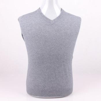 large size 100%goat cashmere knit men casual pullover sweater Vneck EU/S105-3XL130 retail wholesale customize